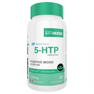 5-HTP 100mg. Positief Humeur. Serotonine Booster. 60 Vcaps.