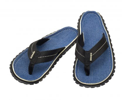BEACH SLAPS IV SLIPPERS - DONKERBLAUW DENIM - 45