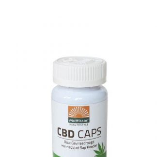 CBD caps RAW gevriesdroogd hennepblad sap