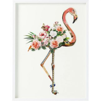 Kare Picture Frame Art Flamingo 100x75cm
