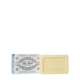 La Fare 1789 Extra Smooth Soap Almond Laurel 75G - 10% code SUMMER10 - Zeep Huidirritatie