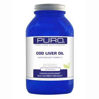 Puro Cod Liver Oil Softgels Levertraan/Vitamine D 100Capsules