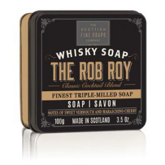 Scottish Fine Soaps Soap in a Tin Whisky Cocktail The Rob Roy Zeep 100gr