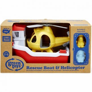 green toys reddingsboot en helicopter